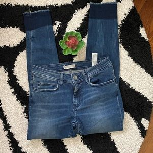 Zara Blue Distressed Jeans Sz 6